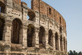 Broken arches in coliseum exterior of ancient rome Stock Photography