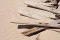 Broken beach defences Royalty Free Stock Photo
