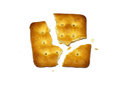 Broken biscuit isolated Stock Photos