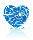 Broken blue icy heart Royalty Free Stock Photo