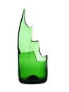 Broken bottle green Royalty Free Stock Images