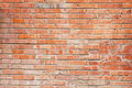 Broken brick red wall Royalty Free Stock Photo