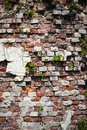 A broken brick wall Royalty Free Stock Images