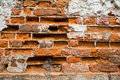 Broken brick wall Royalty Free Stock Image