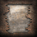 Broken bricks wall old torn grunge background Royalty Free Stock Photography