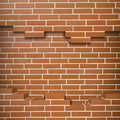 Broken brickwall background red textured Royalty Free Stock Images