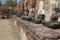 Broken Buddha statues Royalty Free Stock Photo