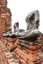 Broken Buddha statues Royalty Free Stock Photo