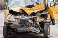 Broken car road accident crash damaged or wreck vehicle Royalty Free Stock Photos