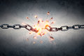 Broken Chain - Freedom And Separation Royalty Free Stock Photo