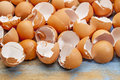 Broken chicken eggshells Royalty Free Stock Photography