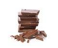 Broken chocolate bar Royalty Free Stock Photo