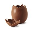 Broken Chocolate Easter egg Stock Photography