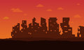 Broken city for bad environment landscape