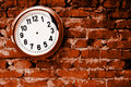Broken clock. Royalty Free Stock Photos