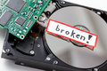 Broken computer hard disk Royalty Free Stock Photo