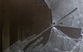 Broken computer screen Royalty Free Stock Photo