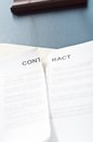 Broken contract terminate the on a black table with a pen Royalty Free Stock Images