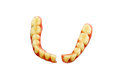 Broken denture isolate on white background Royalty Free Stock Photos