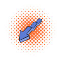 Broken down arrow icon, comics style Royalty Free Stock Photo