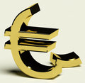 Broken Euro Representing Inflation Stock Images