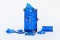Broken glass blue bottle Royalty Free Stock Photo