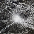 Broken glass close up photo of a Royalty Free Stock Photography