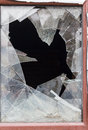Broken glass in the window Royalty Free Stock Photo