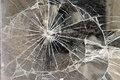 Broken glass a window shop background Royalty Free Stock Photos