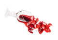 Broken glass of wine Royalty Free Stock Photo