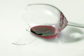 Broken glass of wine red Stock Photography
