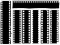 Broken grunge filmstrip  Royalty Free Stock Photos