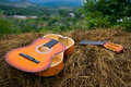 Broken guitar Royalty Free Stock Photo