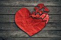 Broken heart breakup concept separation and divorce icon Royalty Free Stock Photo