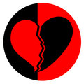 Broken heart creative design of Royalty Free Stock Image