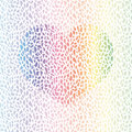 Broken heart multicolor seamless pattern vector illustration Royalty Free Stock Photos