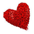 Broken heart red d render Royalty Free Stock Image