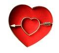 Broken heart sign Royalty Free Stock Photo