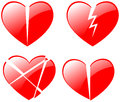 Broken hearts vector illustration of Royalty Free Stock Image