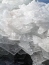 Broken ice on sky background Stock Photo