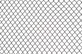 Broken iron wire fence Royalty Free Stock Photo