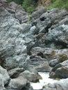 Broken kettle creek on california oregon border Stock Photo