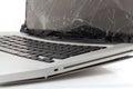 Broken laptop Royalty Free Stock Photo