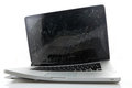 Broken laptop Royalty Free Stock Photo