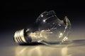 Broken light bulb Royalty Free Stock Photo