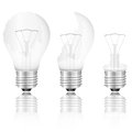Broken light bulbs set bulb on a white background Royalty Free Stock Photography