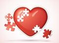Broken love heart Royalty Free Stock Images