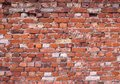 Broken old red brick wall background Royalty Free Stock Photo