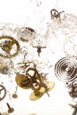 Broken parts of vintage watch Stock Photography