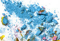 Broken pastel particles and paint Royalty Free Stock Photography